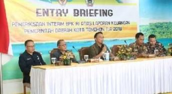 Diperiksa BPK, Wali Kota Tomohon Minta Perangkat Daerah Proaktif