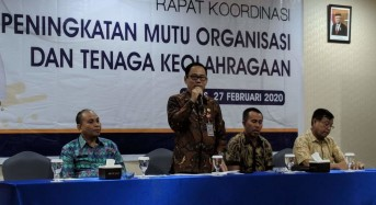Dispora Poles Organisasi Olahraga di Manado, GSVL: Kerja Keras Jelang PON 2020