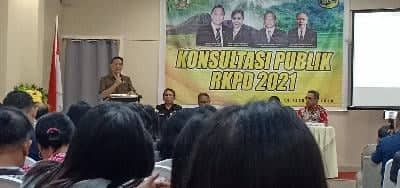 Wali Kota Tomohon Jimmy F Eman SE Ak CA membuka kegiatan