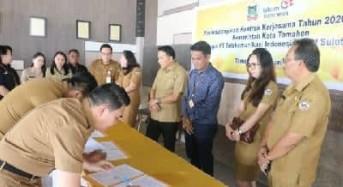 Pemkot Tomohon-PT Telekomunikasi Indonesia Teken Kontrak Kerja Sama