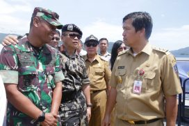 Wagub Kandouw Dampingi Menteri KKP Saksikan Simulasi Pelumpuhan Kapal Illegal Fishing