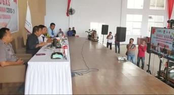 Bupati JS Teleconference dengan Gubernur Sulut Tekait Gugus Tugas Penanganan Covid-19
