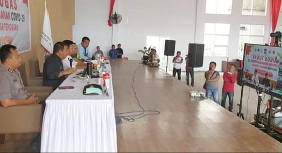 Bupati JS Teleconfrence Dengan Gubernur Sulut Tekait Gugus Tugas Penanganan Covid-19