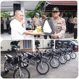 Diterima Kapolda Sulut, Timsus Maleo Dapat Bantuan Oprasional Enam Unit Sepeda Motor