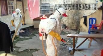 Satgas Corona Pemkot Manado Lakukan Penyemprotan Disinfektan di Bailang