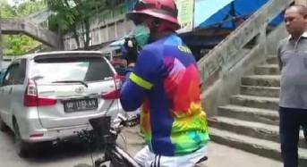 Ketika GSVL Turun Langsung Sosialisasikan Pencegahan Corona Gunakan Sepeda