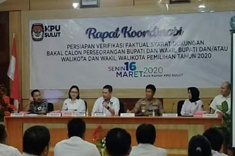 Pantau Kesiapan Pilkada 2020, Kapolda Sulut Sumbangi Kantor KPU Provinsi