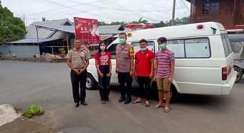 Polres Mitra Bersama Puskesmas Ratahan Sosialisasi Pencegahan Virus Corona