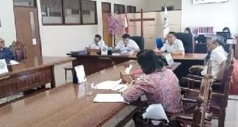 Wali Kota Tomohon dan Panitia HUT PI dan PK-HUT GMIM Bersinode Temui BPMS GMIM