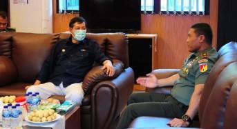 Temui Danrem 131/Santiago, GSVL Diskusikan Langkah Penanganan Virus Corona