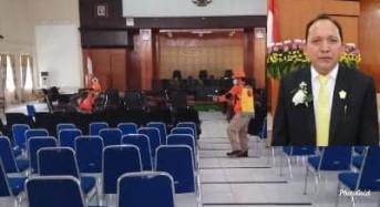 Kantor DPRD Disemprot Disinfektan, Sundah Apresiasi BPBD Tomohon