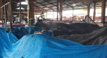 Ini Kondisi Pasar Beriman Wilken Tomohon Setelah Pembatasan Jam Operasional