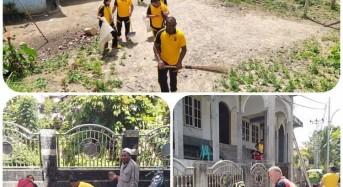 Cega Virus Corona, Dua Hari Polres Mitra Gelar Giat Bersih-Bersih Lingkungan