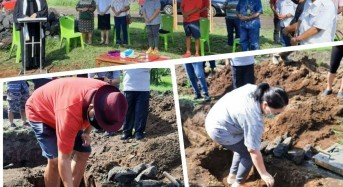 Gubernur Olly dan Ibu Rita Letakan Batu Pertama Pembangunan GMIM RUT Suwaan