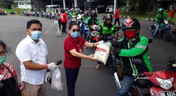 Pemprov Sulut Salurkan Bantuan kepada Ribuan Ojol di Manado
