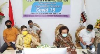 Bupati CEP dan Ketua DPRD Minsel Vicon Dengan Sejumlah Menteri, Soal Penanganan Covid-19