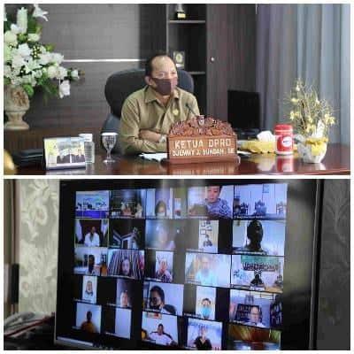 Ketua DPRD Tomohon membawakan materi di Musrenbang RKPD Tahun 2021 Kota Tomohon