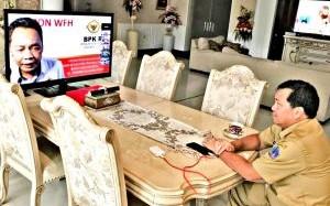 Wagub Kandouw Rapat Lewat Video Teleconference dengan Kepala BPK Sulut Bahas LKPD Tahun 2019