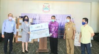 Sekda Lakat Terima Bantuan Penanganan Covid-19 dari Bank SulutGo dan PT Taspen