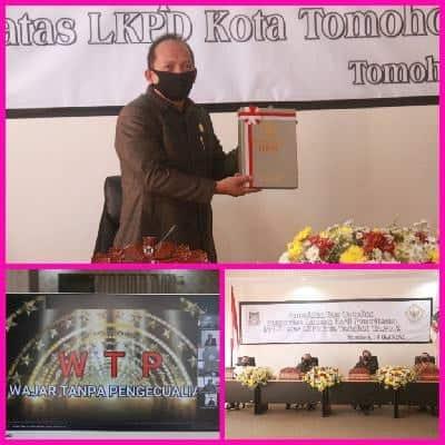 Video Conference DPRD Tomohon Penyerahan LHP BPK kepada Pemkot Tomohon