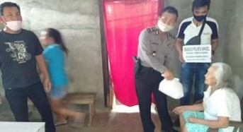 Lagi, Polres Minsel Berbagi Kasih Untuk Warga Kurang Mampu Terdampak Covid-19