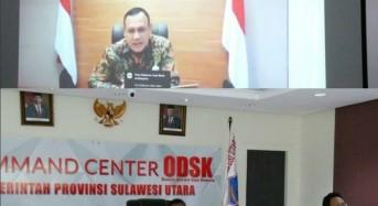 Gubernur Olly Ikuti Vidcon Rakor Pencegahan Korupsi di Tengah Pandemi Covid-19 Yang Dipimpin Ketua KPK