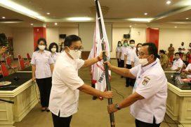 Wagub Kandouw Lantik Wabup Dondokambey Sebagai Ketua PMI Minahasa