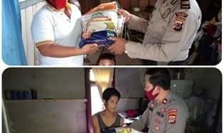 Polres Mitra Salurkan Bantuan 10 Ton Beras ke Warga Kurang Mampu Terdampak Covid-19