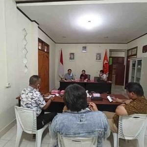 Rapat Koordinasi Bawaslu Tomohon dengan Bapaslon Perseorangan