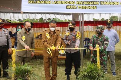 Wali Kota Tomohon, Kapolres Tomohon dan  Ketua DPRD Tomohon mencanangkan Kampung Tangguh