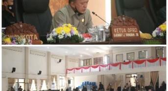 DPRD Tomohon Dengarkan Tanggapan Wali Kota