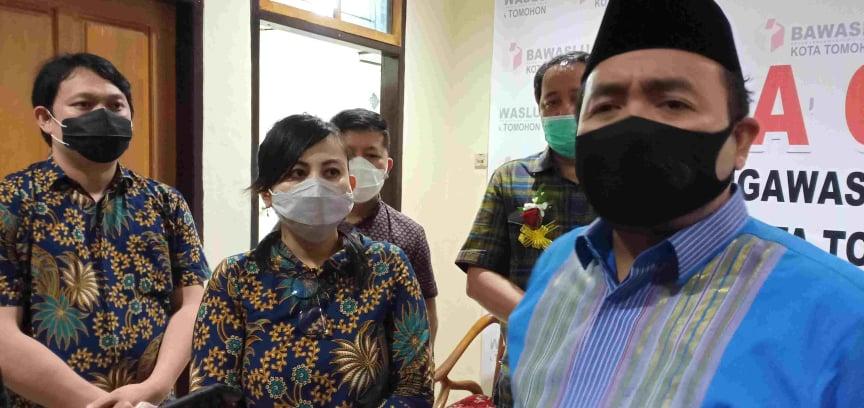 Koodiv Sosialisasi dan Pengawasan Bawaslu RI Mochammad Afifuddin SThI MSi cek dan support pengawasan Coklit Bawaslu Tomohon