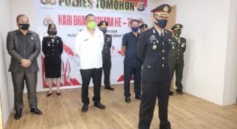 Wali Kota Tomohon Hadiri Upacara Peringatan HUT ke-74 Bhayangkara