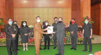 Semua Fraksi DPRD Tomohon Setujui Ranperda Pertanggungjawaban Pelaksanaan APBD 2019