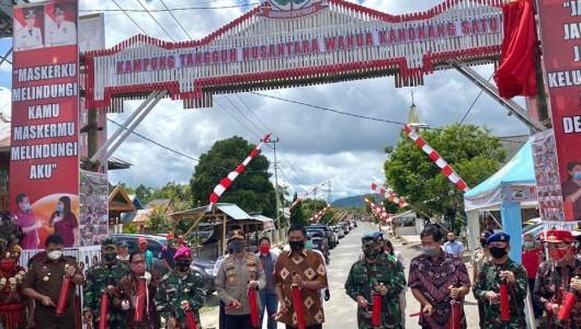 Gubernur Olly Apresiasi Pencanangan Kampung Tangguh Nusantara di Desa Kanonang Satu