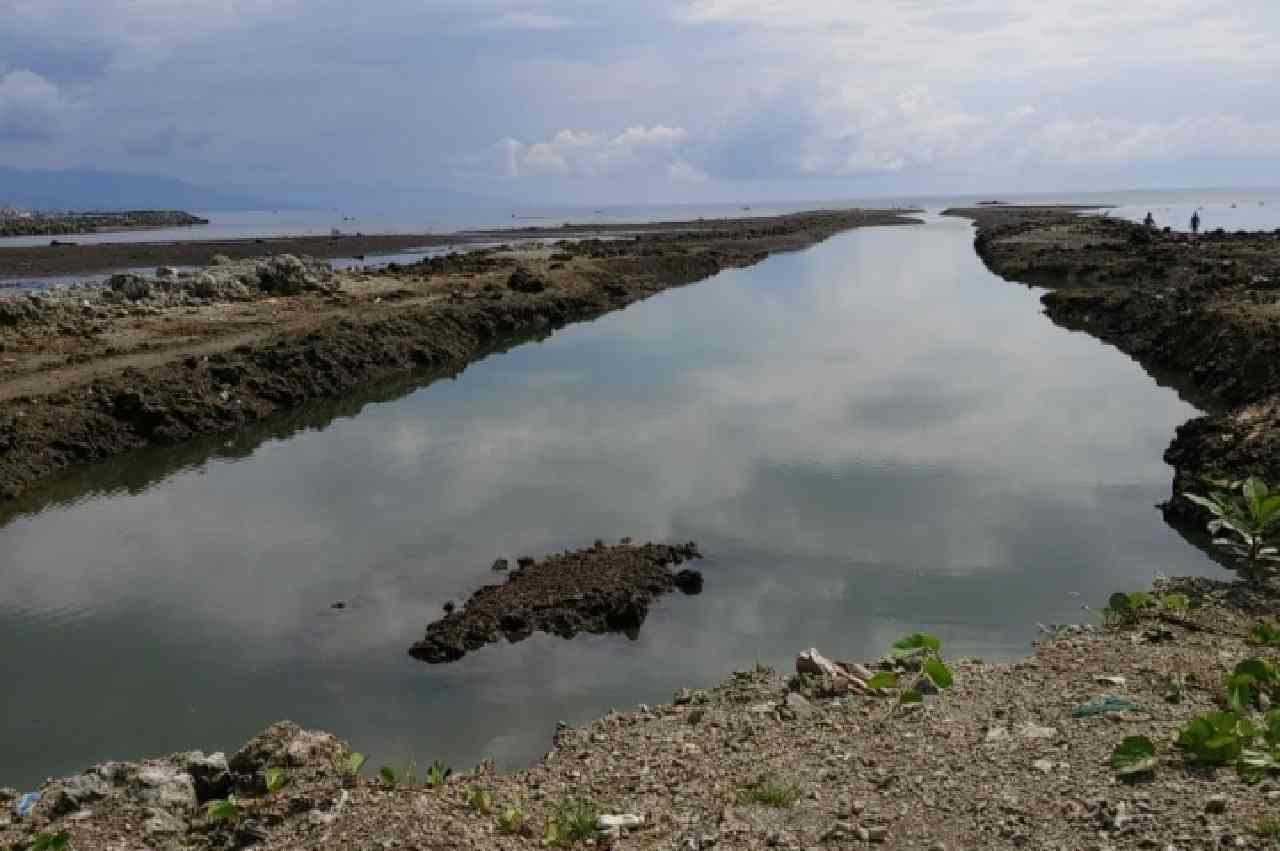 Kondisi pesisir pantai di Kelurahan Molas yang diduga telah dirusak oleh oknum tak bertanggung jawab (foto: Istimewa)