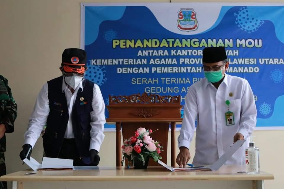 Pemkot Manado Manfaatkan Gedung Wisma Haji Sebagai Rumah Singgah Covid-19