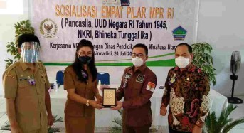 SBANL-Ajbar Sosialisasi Empat Pilar MPR-RI di Minahasa Utara