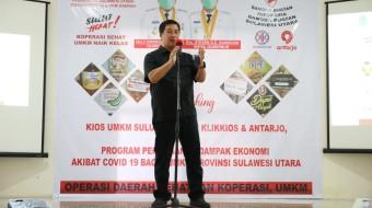 Wagub Kandouw Launching Kios UMKM Sulut, Aplikasi Klik Kios dan Antar Jo