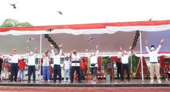 Wabup Robby Dondokambey Buka Rangkaian Peringatan HUT RI ke-75 di Minahasa
