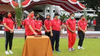 Wagub Kandouw Buka Rangkaian Kegiatan Peringatan HUT RI ke-75 dan HUT ke-56 Provinsi Sulut