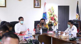 Wagub Kandouw Ikuti Rakor Virtual Penegakan Protap Covid-19 di Pilkada Serentak