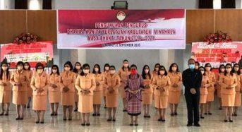 Pengurus DWP Kabupaten Minahasa Periode 2020-2024 Dikukuhkan