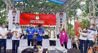 Ini Nomor Urut Empat Paslon yang Berlaga di Pilwako Manado