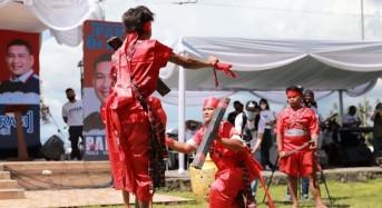 JPAR-Ai Deklarasi Dengan Tarian Upasa Bantik, Dijemput Kabasaran saat Daftar di KPU