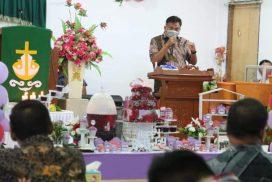 HUT ke-16 GMIM Wilayah Bitung 8, Olly Ajak Warga Tunjang Program Pemerintah