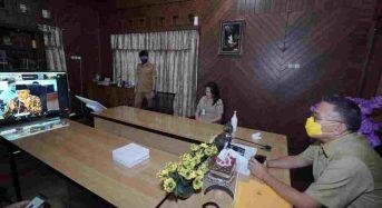 Wali Kota Tomohon Ikut Webinar Sosialisasi Empat Pilar MPR-RI